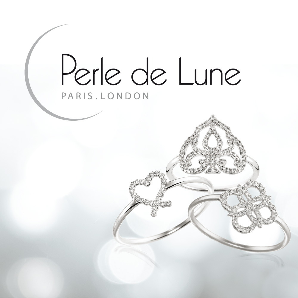Création logo brochure identité PERLE DE LUNE Bijou Londres paris 1703 Factory