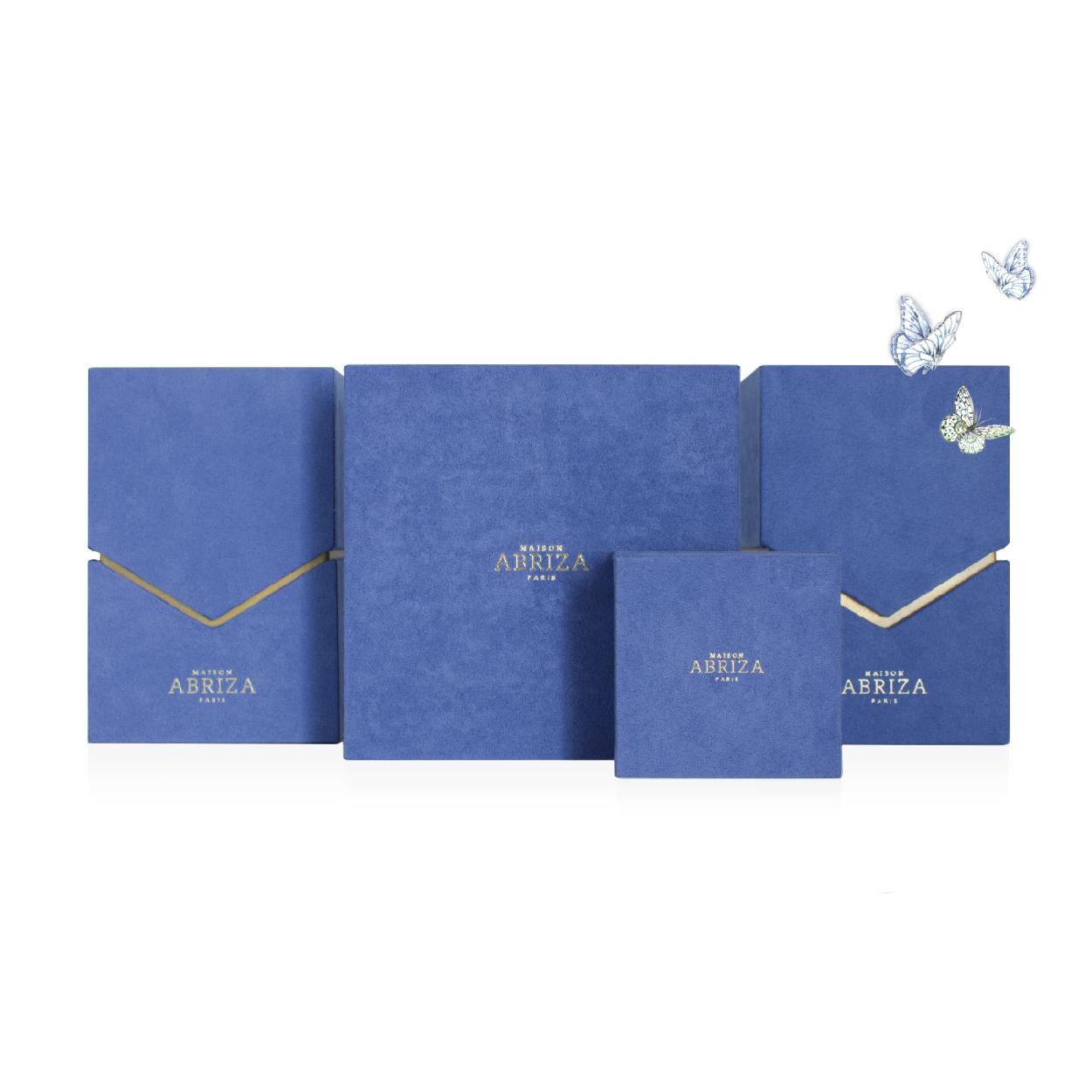 Création logo design produit packaging brochure leaflet Artisant coffret MAISON ABRIZA PARIS
