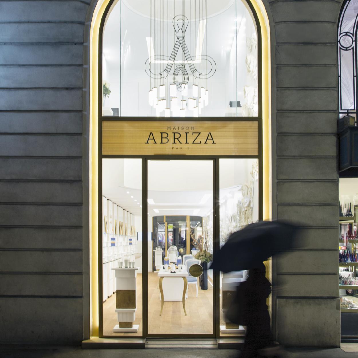 Création logo retail shop architecture interieure art du parfumage MAISON ABRIZA PARIS