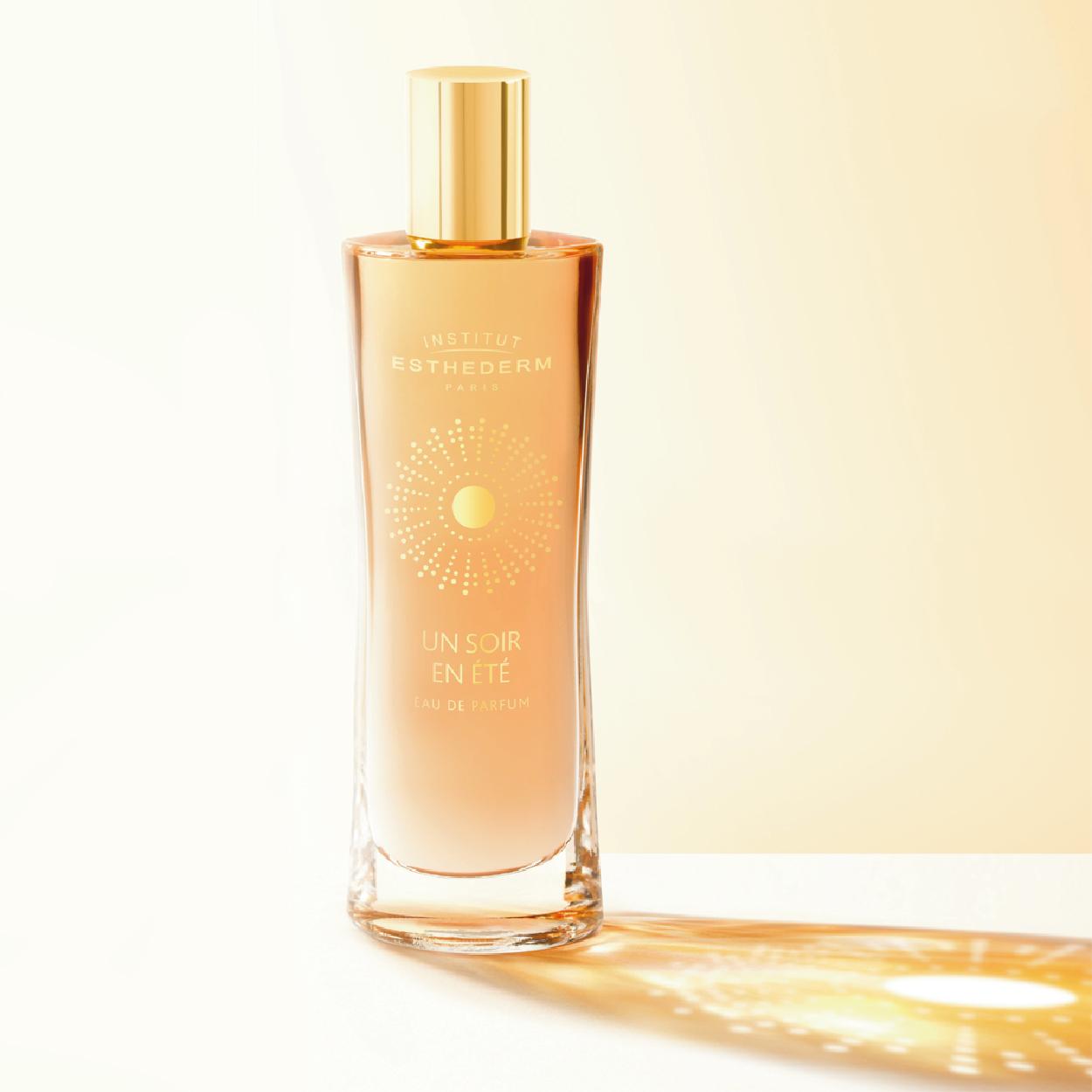 Logo packaging Soir en été ESTHEDERM eau de parfum création 1703 factory