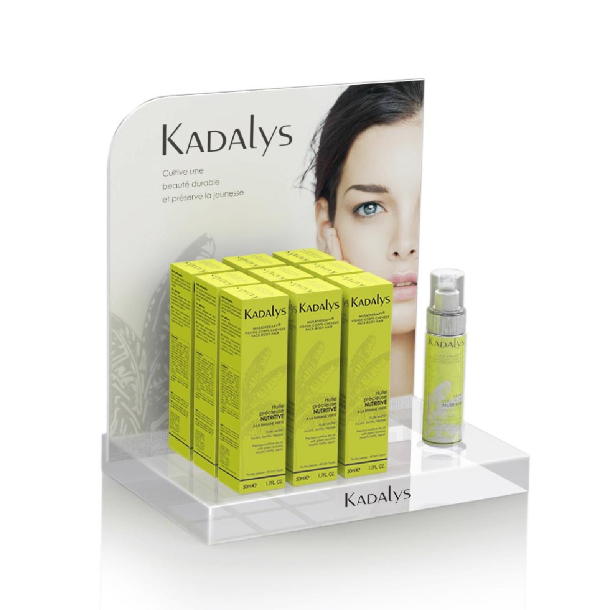 Création Présentoir Kadalys Bio cosmétique Organic Beauty 1703 Factory