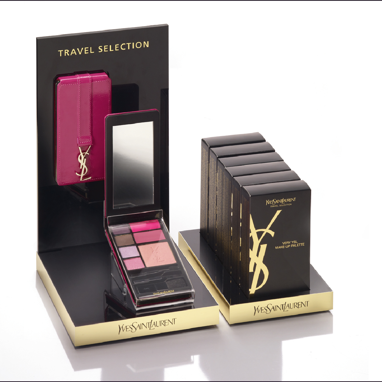 création présentoir VERY YSL Yves Saint Laurent L'OREAL LUXE PDL Travel retail exclusive