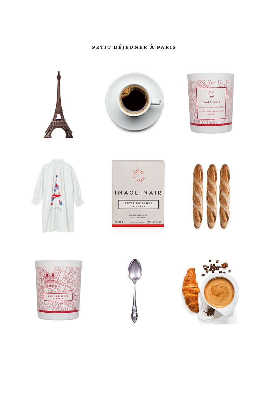 Bougie baguette petit dejeuner IMAGEINAIR Alexandra Senes | Kilometre Paris Création 1703 Factory
