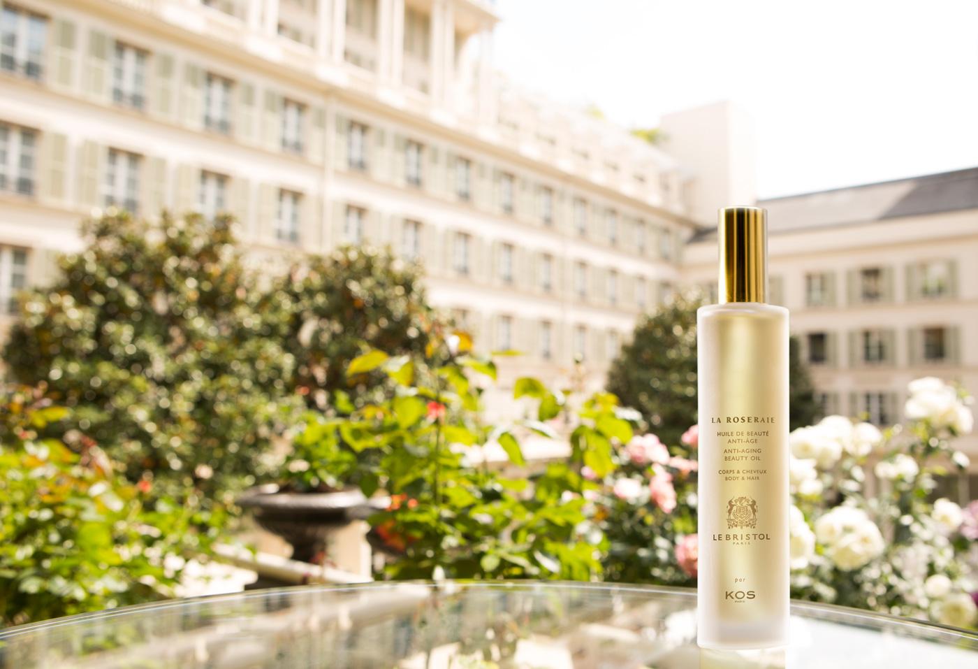 Logo packaging Huile de Beauté Hôtel Bristol Rose KOS PARIS création 1703 Factory