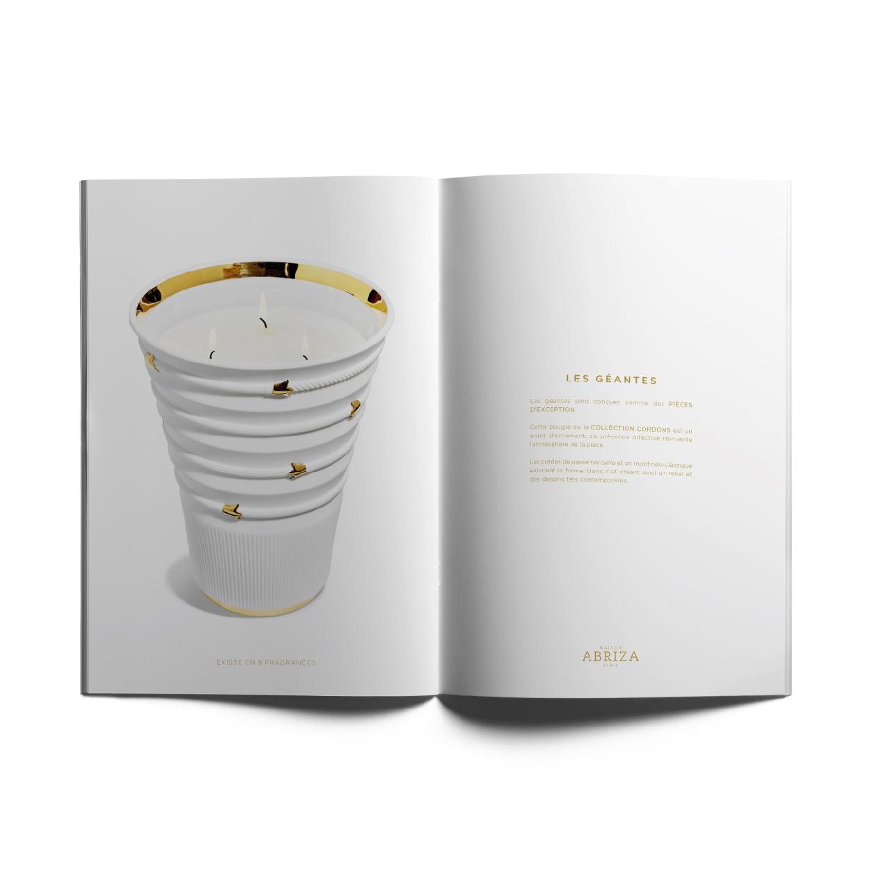 Création logo papeterie packaging design produit MAISON ABRIZA PARIS