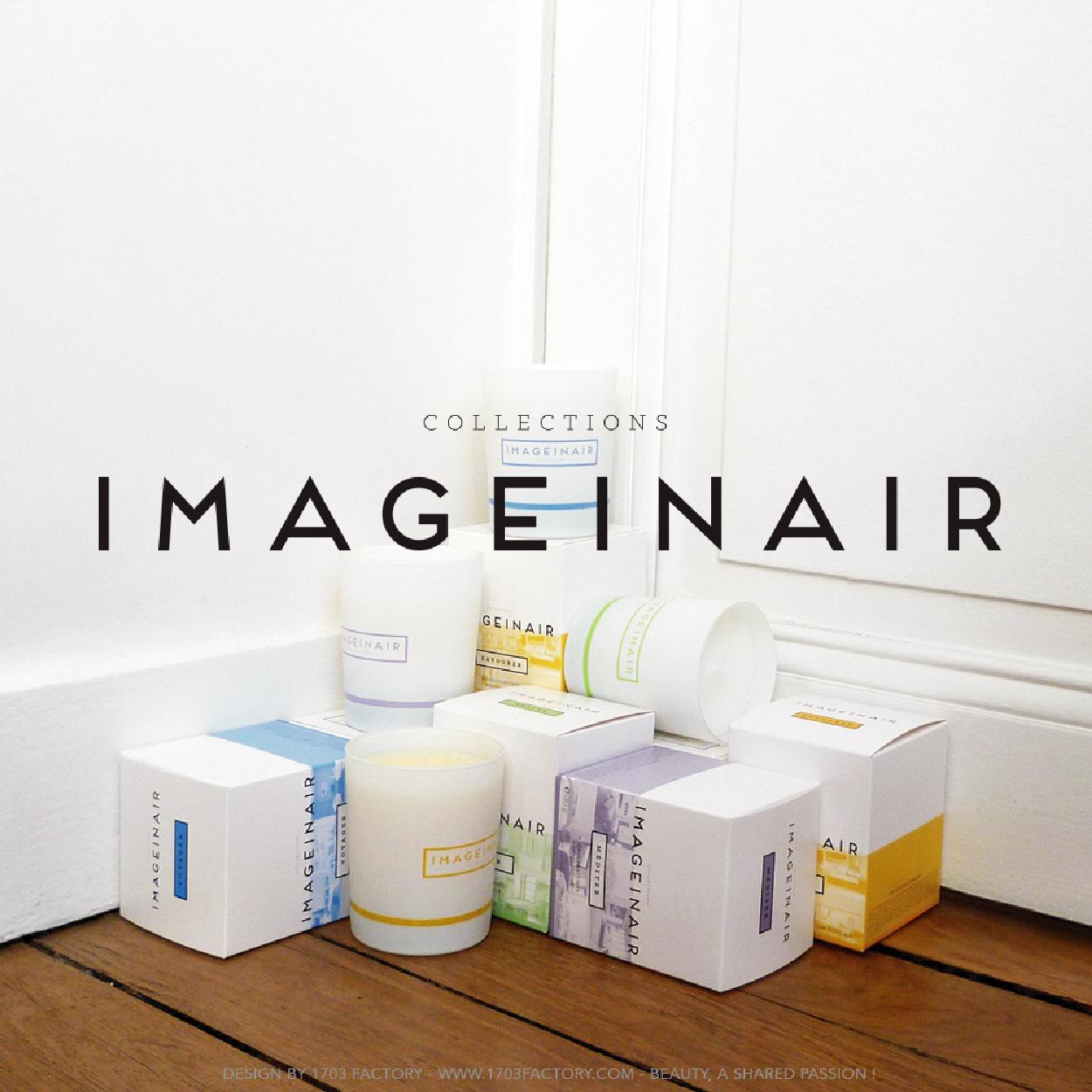 Imageinair Paris- création gamme packaging Logo bougies 1703- FACTORY