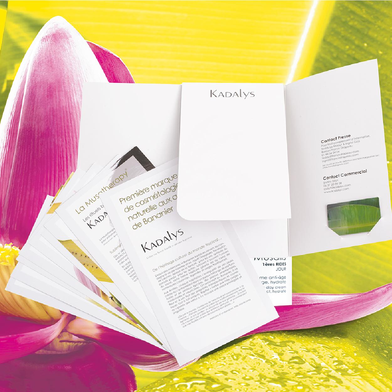 Création Dossier de Presse Kadalys Bio cosmétique Organic Beauty 1703 Factory