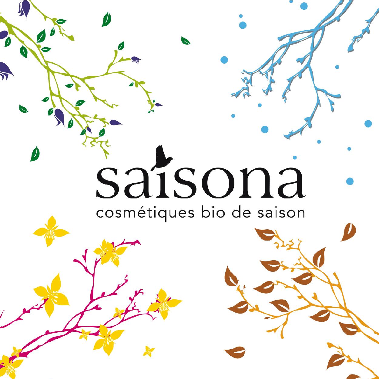 Création Lifting Logo SAISONA cosmétique bio de Saison 1703 Factory