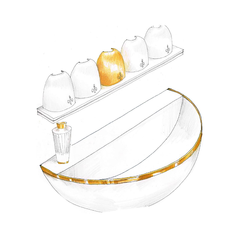 Création logo design fontaine à parfums art du parfumage MAISON ABRIZA PARIS