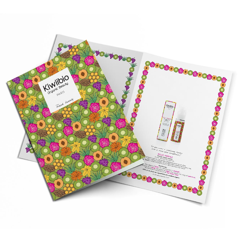 Création logo packaging brochure KIWIIBIO cosmetique Organic Bio Beauty 1703 Factory