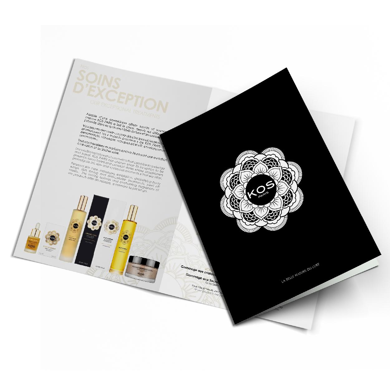 Logo packaging dossier de presse brochure leaflet KOS PARIS création 1703 Factory