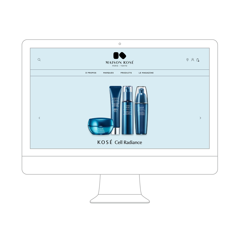 Création du site Maison KOSE Paris site internet 1703 Factory Kosé marque cosmétique