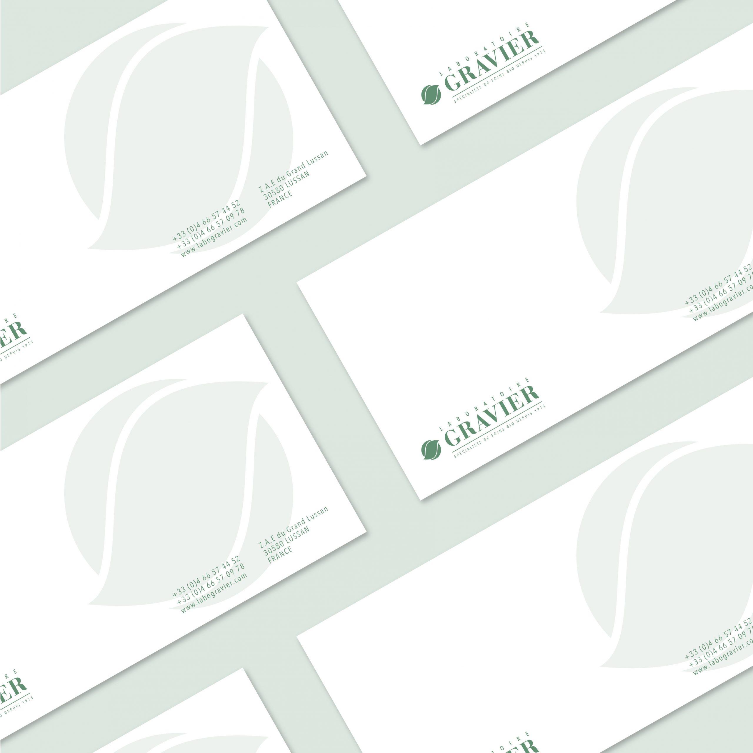 Création Carte de correspondance Labo GRAVIER 1703 Factory