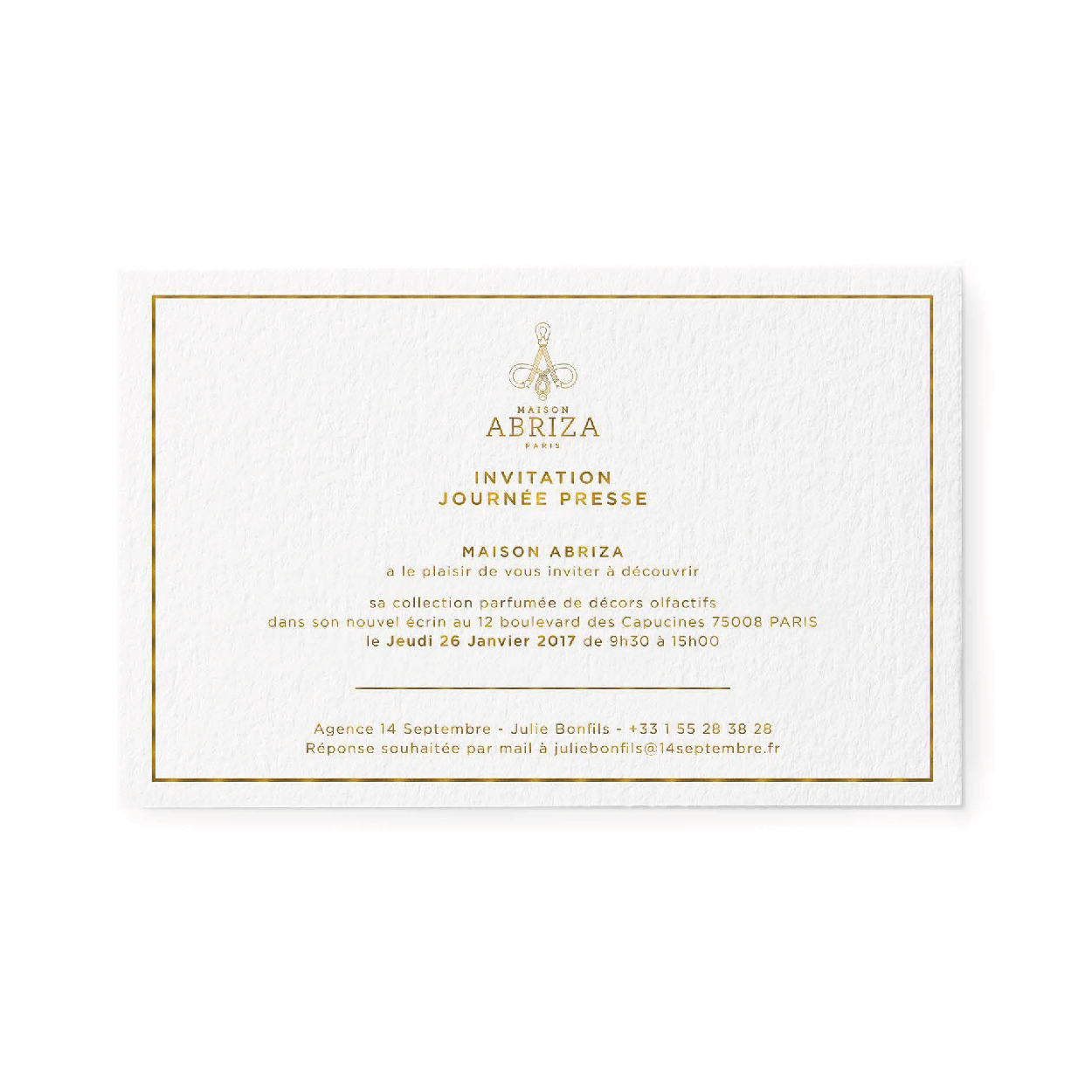 1703 FACTORY- ABRIZA invitation presse